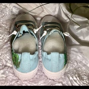 Converse Shoes - Bob Ross painted converse size 7